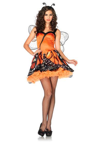 Leg Avenue Бабочка Мини-платье и ободок с усиками leg avenue чулочки с поясом черные в мелкую сетку