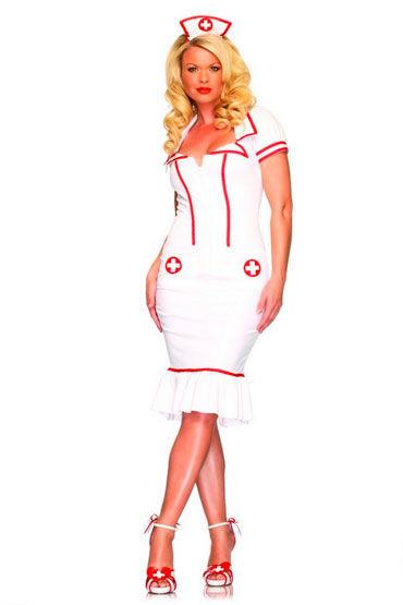 Leg Avenue Медсестра Супер элегантный и эротичный наряд leg avenue медсестра платье стринги и чепчик
