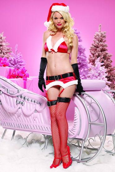 Leg Avenue комплект, красный Яркое и красивое новогоднее белье массажер простаты platinum premium silicone the p wand