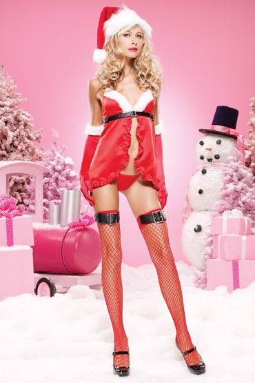 Leg Avenue комплект Новогодний озорной наряд leg avenue платье экстравагантный клубный наряд