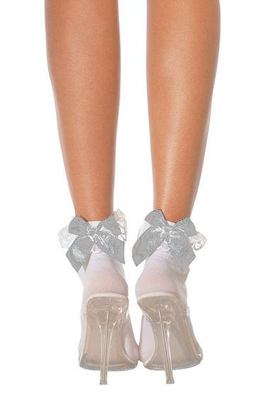 Leg Avenue носочки, черные С белым бантом leg avenue колготки черные со швом сзади