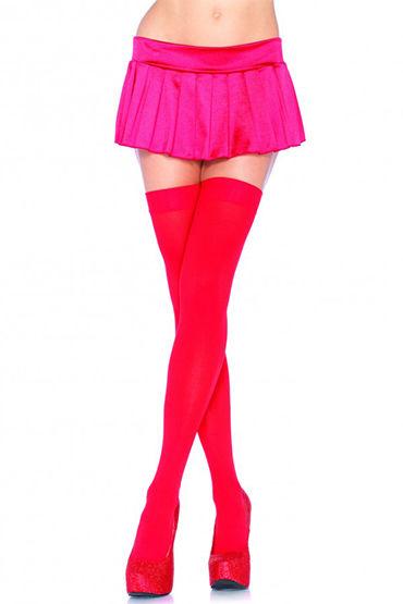 Leg Avenue чулки, красные Непрозрачные женские эротические чулки lynx secret stk0003