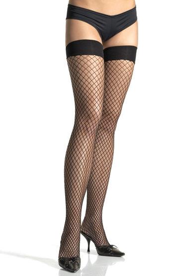 Leg Avenue чулки, черные В сеточку rene rofe чулки сетка женской одежды