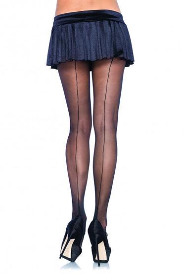 Leg Avenue колготки, черные Со швом сзади leg avenue ведьмочка со шляпой и чулочками