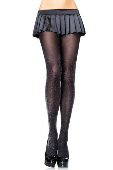 Leg Avenue колготки, черные Блестящие leg avenue колготки с ажурным плетением