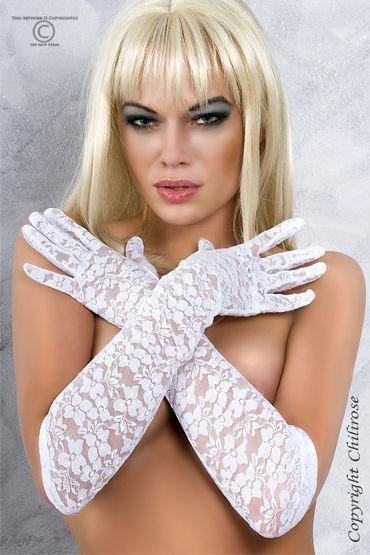 ChiliRose перчатки, черные С цветочным орнаментом chilirose комплект cr4132 сорочкастринги