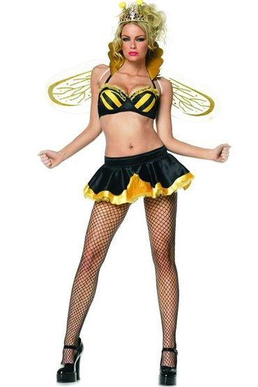 Leg Avenue Королева Пчелка Бюстгальтер, юбка, корона и крылья