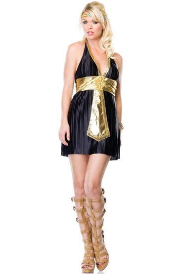 Leg Avenue Богиня Нила Платье с поясом и украшение на голову leg avenue мини платье с глубоким декольте