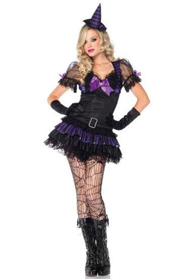 Leg Avenue Маленькая Ведьма Игривое мини-платье и шляпа ctrc игрушки womanizer ю