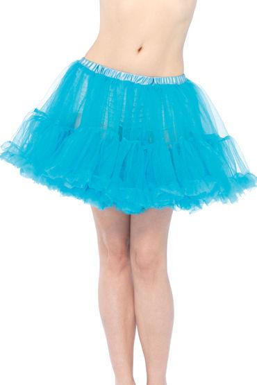 Leg Avenue подъюбник, голубой Многослойный пышный lola toys emotions cutie large розовая анальная пробка с черным кристаллом