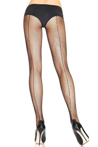 Leg Avenue колготки Со швом сзади leg avenue трусики черно красные кружевные со шнуровкой сзади