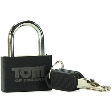 Tom of Finland Metal Lock, черный Металлический замок gift set of clone a willy hot pink and silver bullet