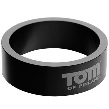 Tom of Finland 50mm Aluminum Cock Rings, черное Эрекционное кольцо из металла gift set of clone a willy hot pink and silver bullet