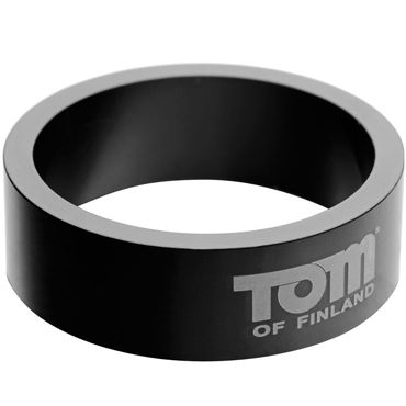 Tom of Finland 60mm Aluminum Cock Rings, черное Эрекционное кольцо из металла gift set of clone a willy hot pink and silver bullet