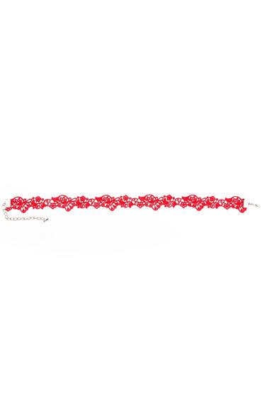Dolce Piccante Mistero, красное Ожерелье-чокер из кружева цена