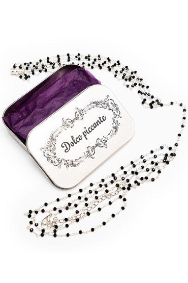 Dolce Piccante Enigma, серебристое Колье на тело я популярные товары для взрослых nature skin