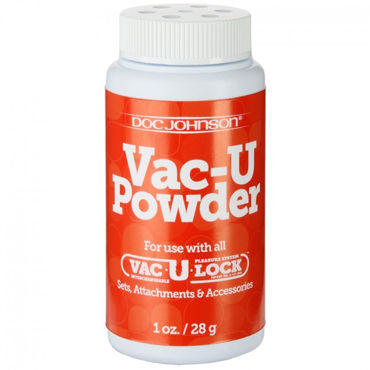 Doc Johnson Vac U Powder, 28 г Присыпка для креплений Vac U Lock doc johnson vac u lock 17 см zanussi