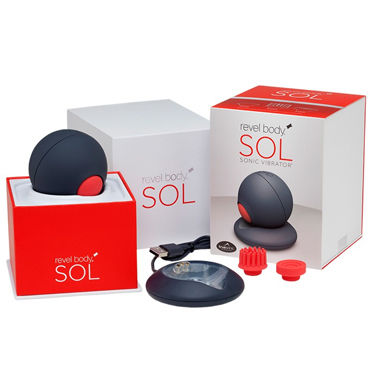 Revel Body Sol Уникальный инновационный вибромассажер серая насадка reach для revel body