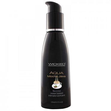 Wicked Aqua Mocha Java, 120мл Съедобный лубрикант со вкусом кофе Мокка ns novelties wyld vibes swan золотой вибратор с поступательными движениями