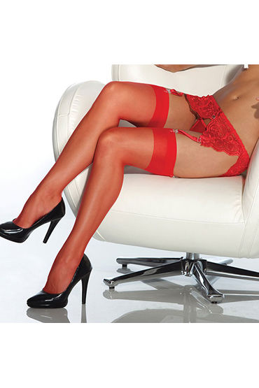Coquette Чулки красные С уплотненной резинкой