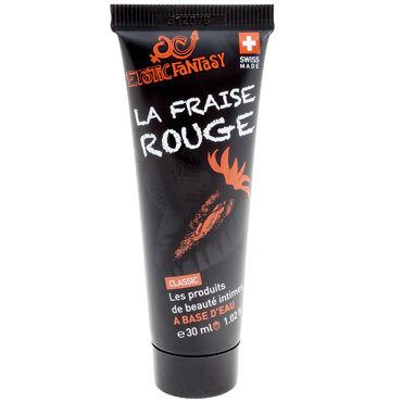 Erotic Fantasy La Fraise Rouge, 30мл Лубрикант на водной основе со вкусом и ароматом клубники demoniq with love valerie черная сорочка и трусики с контрастной отделкой
