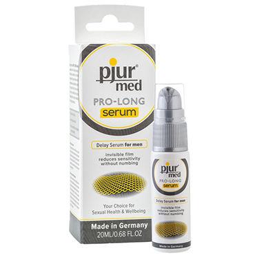 Pjur Med Pro-long Serum, 20 мл Концентрированная продлевающая сыворотка thierry гибкий реалистичный 16 5 см фаллоимитатор с крепкой присоской цвет плоти дополнительная вибрация