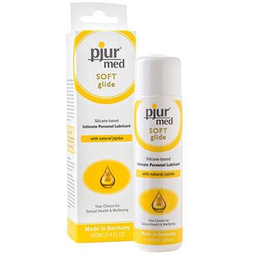 Pjur Med Soft Glide, 100 мл Концентрированный силиконовый лубрикант для сухой и чувствительной слизистой durex xxl größe