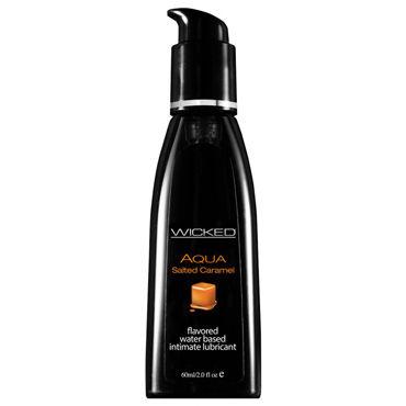 Wicked Aqua Salted Caramel, 60 мл С ароматом соленой карамели wicked aqua sensitive 120 мл мягкий лубрикант на водной основе