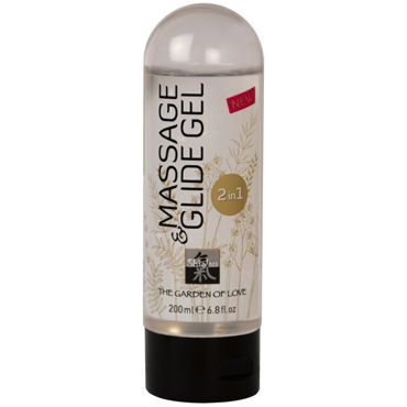 Shiatsu Massage & Glide Gel, 200 мл Массажный гель и лубрикант shiatsu balm of magic pomegranate 200 мл uriage