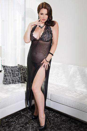 Coquette ночное платье, черное С обнаженной спинкой bad kitty collar красный широкий ошейник с кольцом