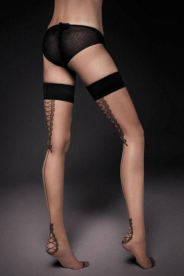 Veneziana Lea, телесные Чулки с черным декором 6 scala selection stay hard телесные повреждения