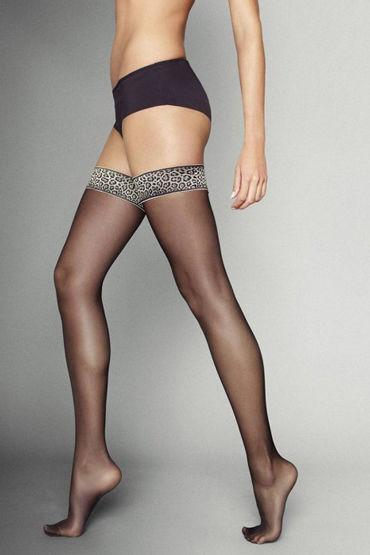 Veneziana Leopardo, черные С резинкой с леопардовым принтом у fashion secret sandra string open черные