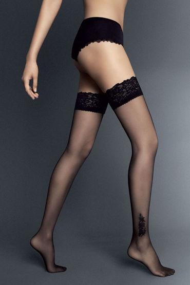 Veneziana Doris, черные Чулки с декором на щиколотке миф насадка фаллоимитатор 2 harhess розовая для трусиков с плугом