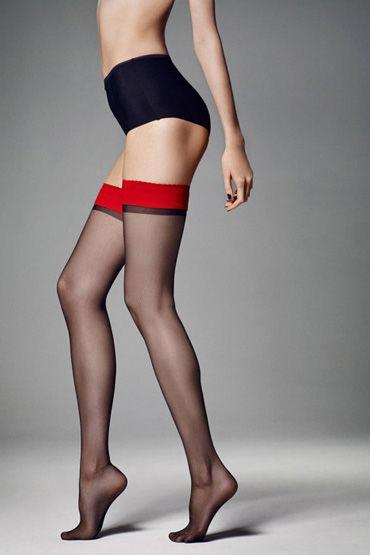 Veneziana Catalina, черные Чулки с красной резинкой ero a337 rjobuhqeavqhw e7103 uhytgp