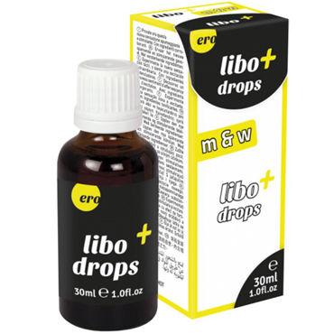 Hot Libo+ Drops m&w, 30 мл Капли для мужчин и женщин t ты novelties glace cuties фиолетовый