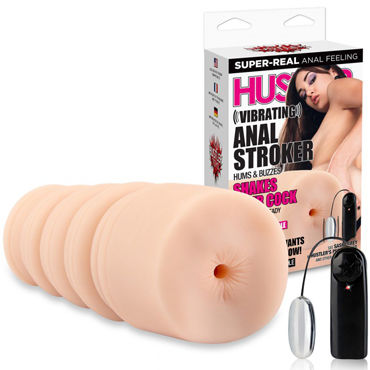 Hustler Vibrating Anal Stroker, телесный Мастурбатор вибропопка от Sasha Grey ovo j3 rotating beaded rabbit ежевичный вибратор перезаряжаемый c ротацией
