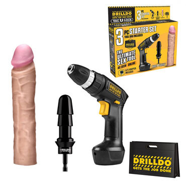 Drilldo Starter Секс-набор drilldo ultimate sex tool реалистик насадка для дрели