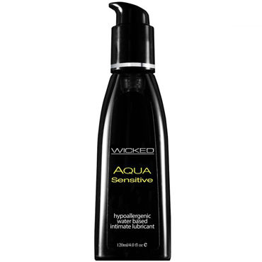 Wicked Aqua Sensitive, 120 мл Мягкий лубрикант на водной основе pjur back door glide 250 мл концентрированный анальный лубрикант