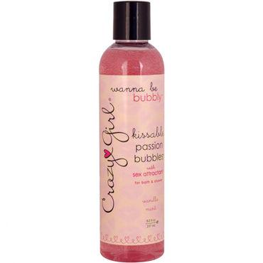 Classic Erotica Crazy Girl Passion Bubbles, 237 мл Съедобный гель для ванны и душа с феромонами и ароматом ванильной мяты анальные втулки длина 18 20 см