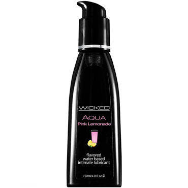 Wicked Aqua Pink Lemonade, 120 мл Лубрикант со вкусом розового лимонада sitabella напульсники розовые с шипами из искусственной кожи
