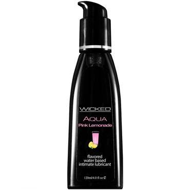 Wicked Aqua Pink Lemonade, 120 мл Лубрикант со вкусом розового лимонада вибратор sweet sex телесный