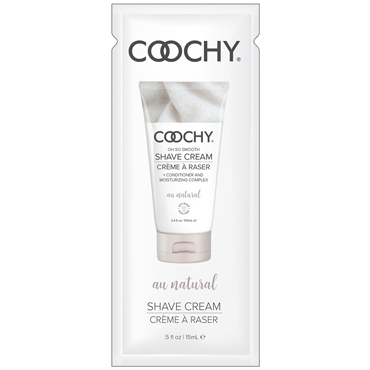 Coochy Oh So Smooth Shave Cream Au Natural, 15 мл Увлажняющий комплекс без аромата classic erotica body dew oh so sexy original 236мл масло для тела с феромонами