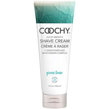 Classic Erotica Coochy Oh So Smooth Shave Cream Green Tease, 213 мл Увлажняющий комплекс ароматизированный sitabella наручники серебристо голубой с подкладкой из искусственного меха