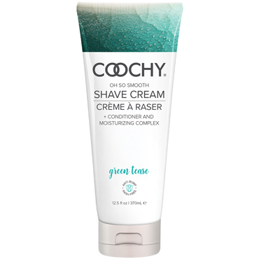 Classic Erotica Coochy Oh So Smooth Shave Cream Green Tease, 370 мл Увлажняющий комплекс ароматизированный 1 pcs sexty adult toys 2 56 inch 6 5 cm mini tiny magic wand massager random color