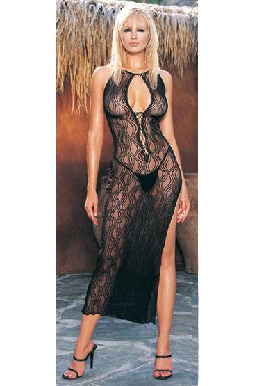 Leg Avenue комплект Платье с разрезом сбоку и стринги leg avenue развратная cтудентка