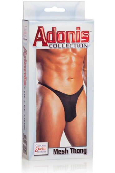 California Exotic Adonis Mesh Thongs, черные