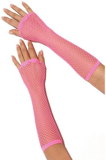 Electric Lingerie перчатки, розовые Длинные, в сеточку пушистое боа electric lingerie caramel rainbow разноцветное