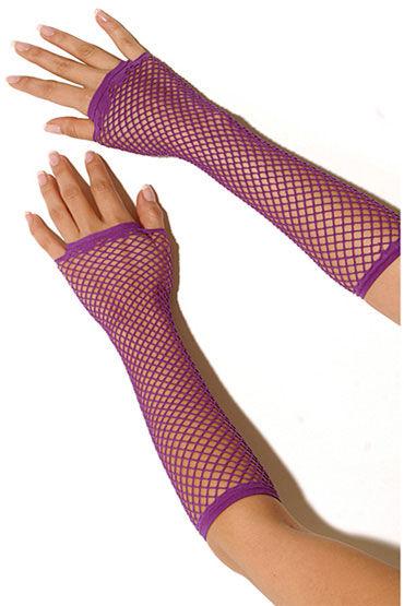 Electric Lingerie перчатки, фиолетовые Длинные, в сеточку перчатки electric lingerie в сеточку длинные розовые os