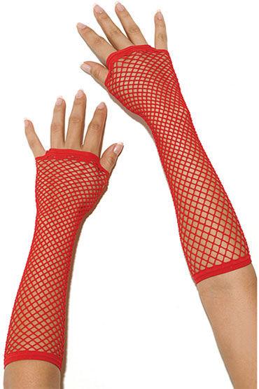 Electric Lingerie перчатки, красные Длинные, в сеточку seven til midnight euphoric трусики лиф и маска