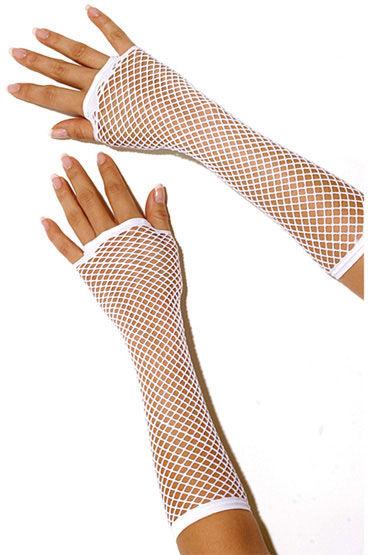 Electric Lingerie перчатки, белые Длинные, в сеточку анальные игрушки для женщин длина 18 20 см